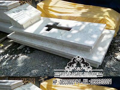 Model Kuburan Kristen Minimalis, Kijing Makam Marmer, Kijinganan Marmer