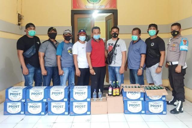 Polisi sita ratusan botol miras milik oknum mahasiswa dan PNS
