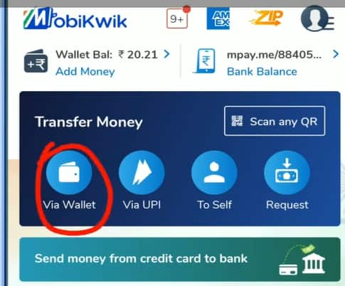 How to transfer money from Mobikwik to bank without charges?
