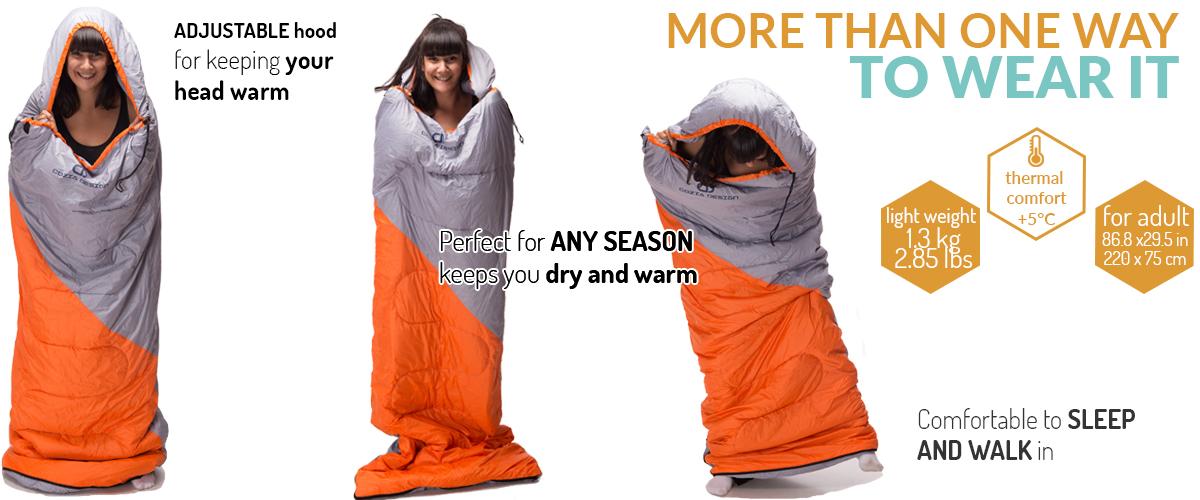 Camping Gear: Light Camper, A Lightweight Compact Sleeping Bag