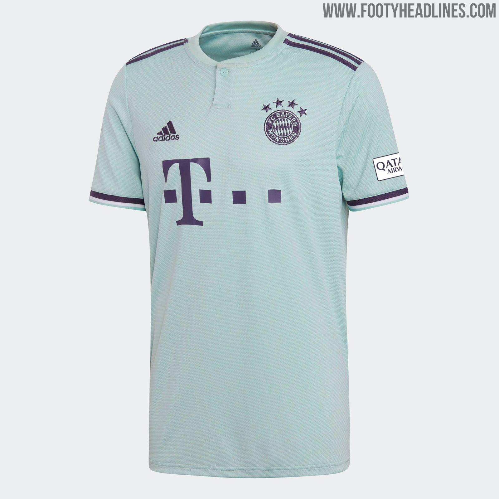 37e81bd5d The Adidas Bayern 18-19 away kit is mint green