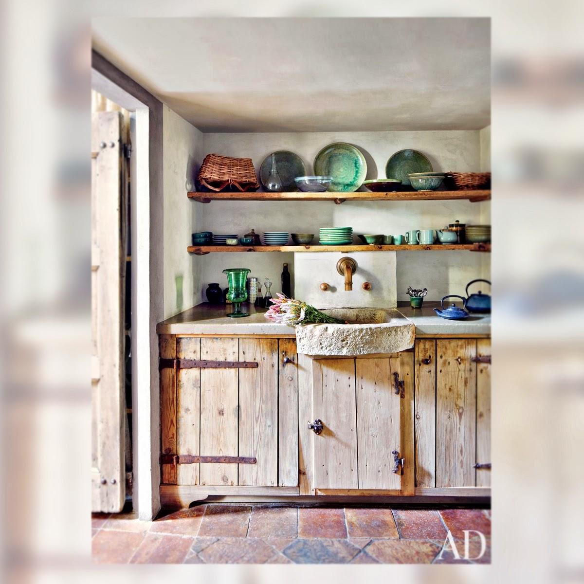 Decoracion 5 cocinas r sticas la musa decoraci n - Decorar casa de pueblo ...