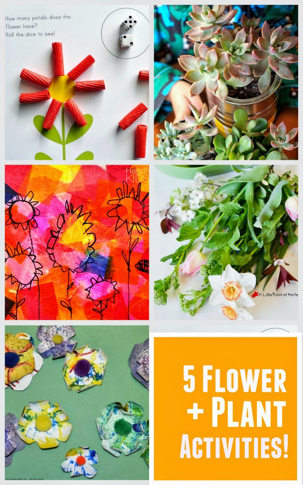 5 flower + plant activities that are perfect for kids!