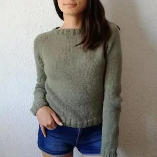 Suéter Básico a Dos Agujas