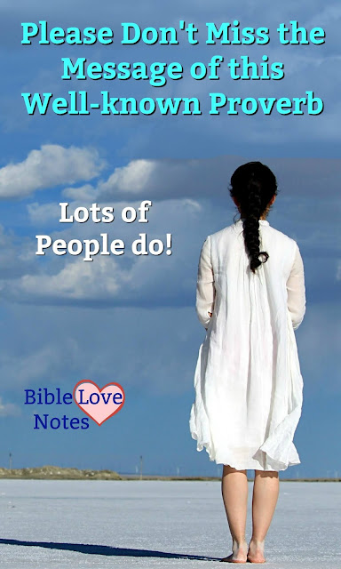 If we miss the main message in Proverbs 3:5, we end up in the same situation as Eve. This 1-minute devotion explains.