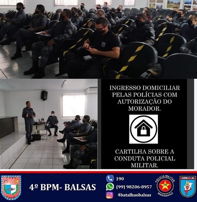 4° BPM FAZ PALESTRAS DE ATUALIZAÇÃO DOS POLICIAIS MILITARES