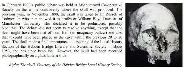 skull found in tom bells cave..www.derelictmanchester.com