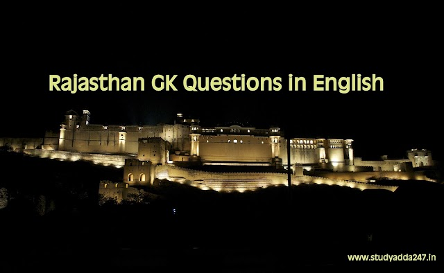Rajasthan GK Questions in English