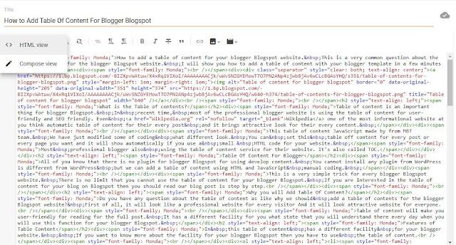 Turn On HTML Mode