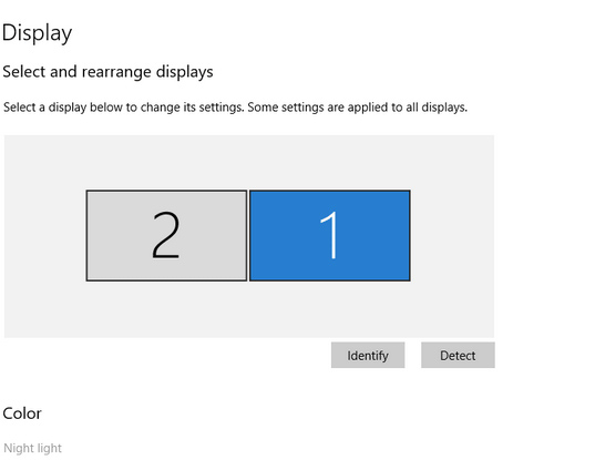 شاشات متعددة على Windows