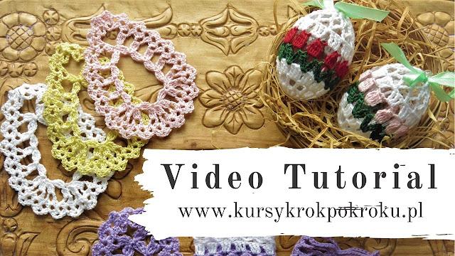 Szydełkowe koszulki, osłonki na jajka wielkanocne - SCHEMATY i WZORY + Video Tutorial