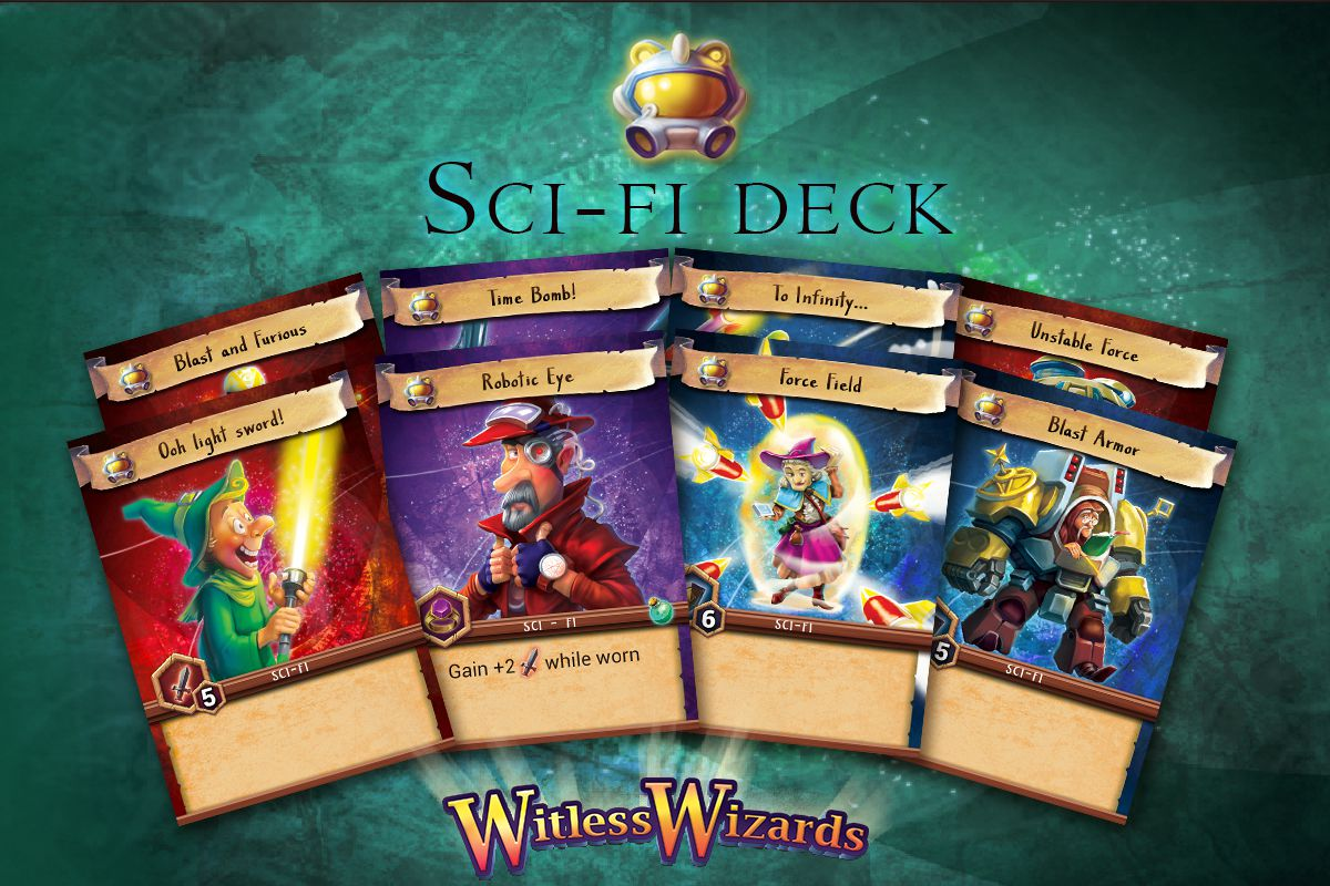 Witless Wizards sci-fi deck