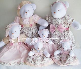 Ursas Florais para Festa de bebê…