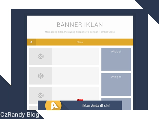 Cara Pasang Iklan Adsense Melayang di Blogger Terbaru 2019