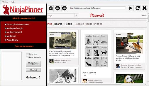 NinjaPinner Bot Pinterest Download Grátis
