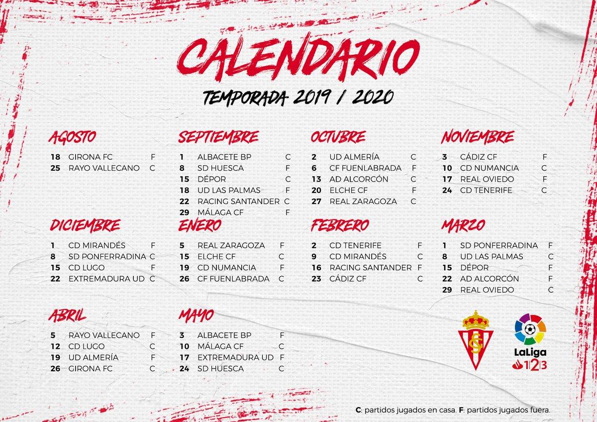 As Calendario Liga 123.Soy Sportinguista Noticias Fichajes Videos Y Fotos