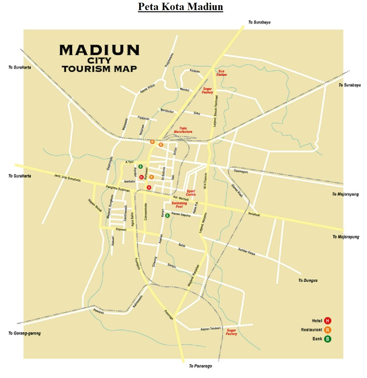 Peta Kota Madiun