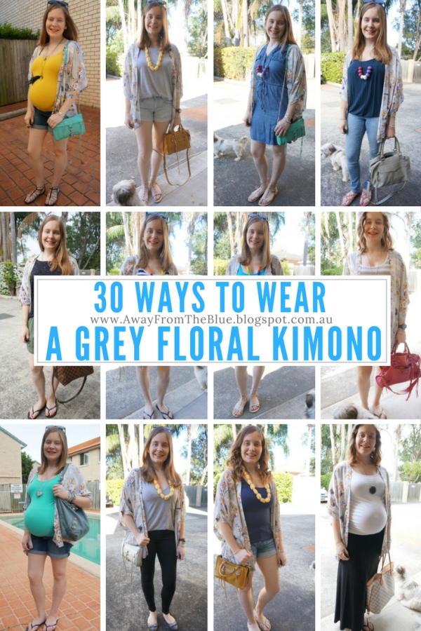30 ways to wear Somedays Lovin' Yakuza floral print grey kimono | Awayfromtheblue blog