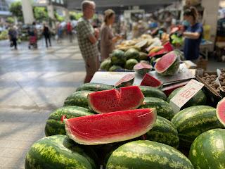 La Spezia Market - watermelons