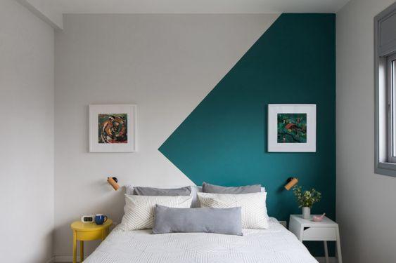 parede com pintura geometrica