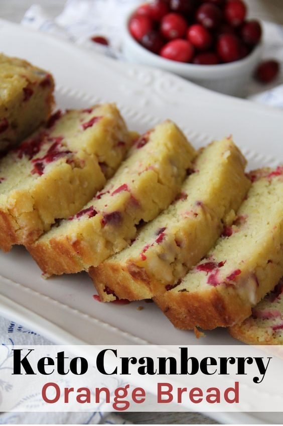 Keto Cranberry Orange Bread
