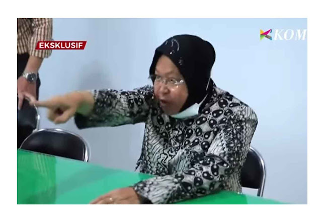 Risma Kembali Ngamuk, Maki-maki Perempuan di Kantor Polisi