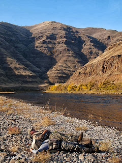 Anglers napping along the Grande Ronde River