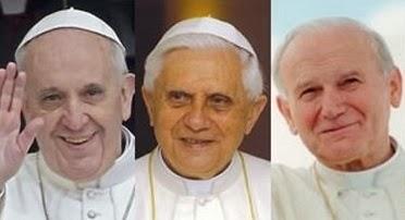 Spe Deus: João Paulo II, Bento XVI e Francisco são papas que se complementam