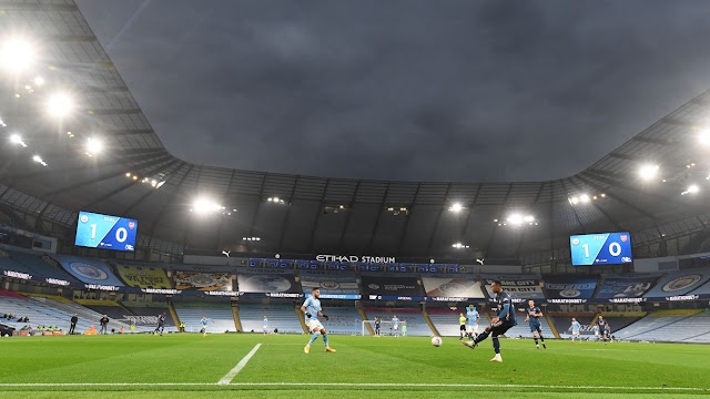 Man city winger Mahrez tracks down Arsenal defender Gabriel