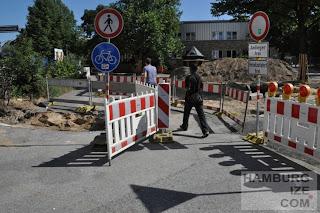 Schanzenstraße / Sternschanze - Baustelle