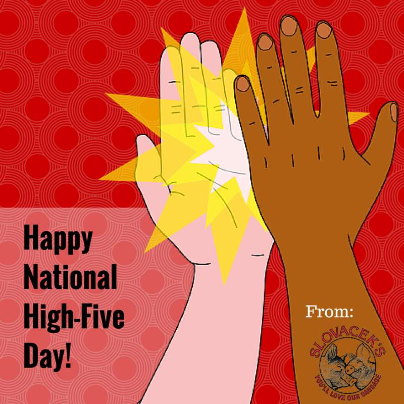 National High Five Day Wishes