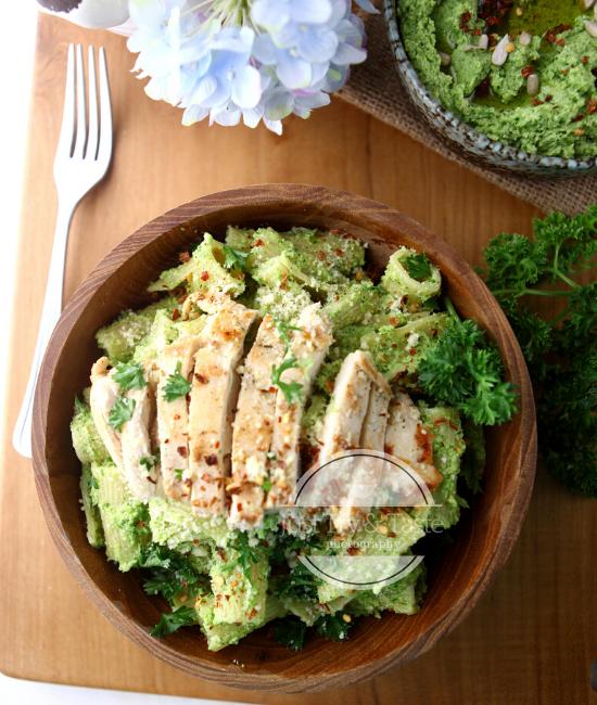 Resep Rigatoni dan Ayam dengan Pesto Brokoli