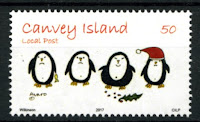 Canvey Local Post Christmas Penguins Stamp