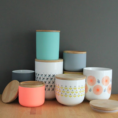 colour pop canisters in the kitchen