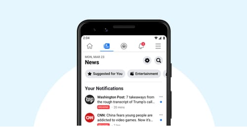Facebook launches the renewed news section