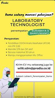 Lowongan Kerja Surabaya dan Banyuwangi | Laboratorium Klinik Prodia
