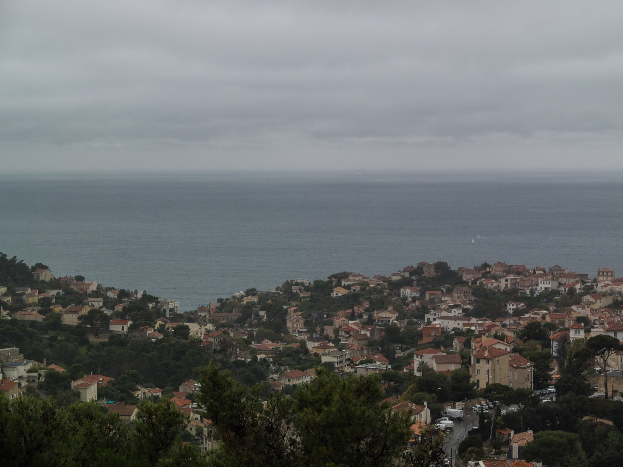 View from La Garde looking out to the Mediterranean Gulf of Lion
