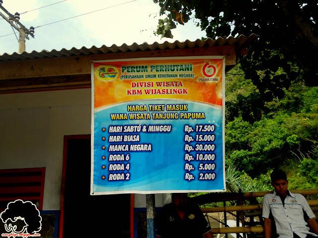 Harga tiket masuk  Papuma
