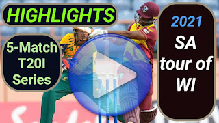 West Indies vs South Africa T20I Series 2021