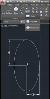 Make an Ellipse in AutoCAD