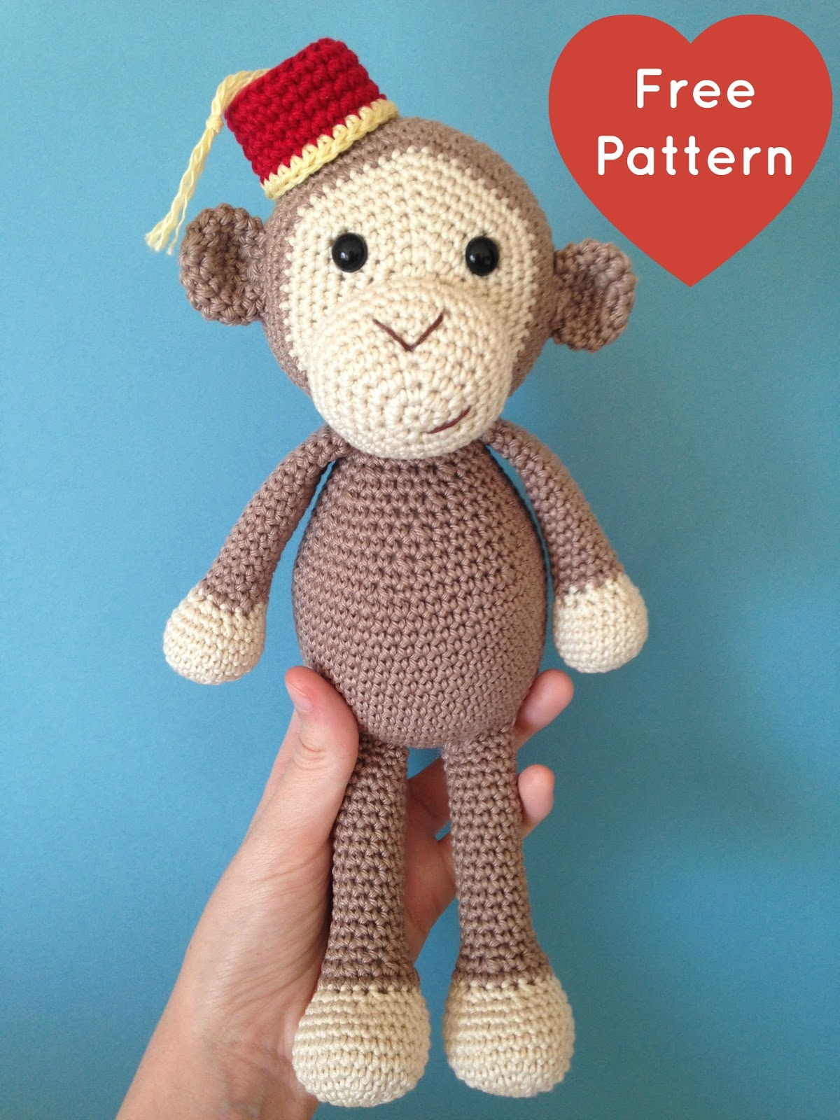 2dd257e1bda Heart   Sew  Cheeky Little Monkey - Free Crochet   Amigurumi Pattern