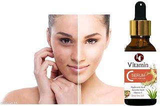 Indo challenge Vitamin C Serum With Hyaluronic Acid, Glowing Skin & Age-Defying , Fairness Brightening
