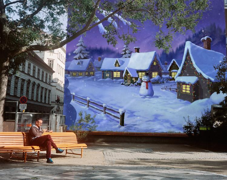 Murales y postales de navidad murales graffitis y - Murales decorativos de navidad ...