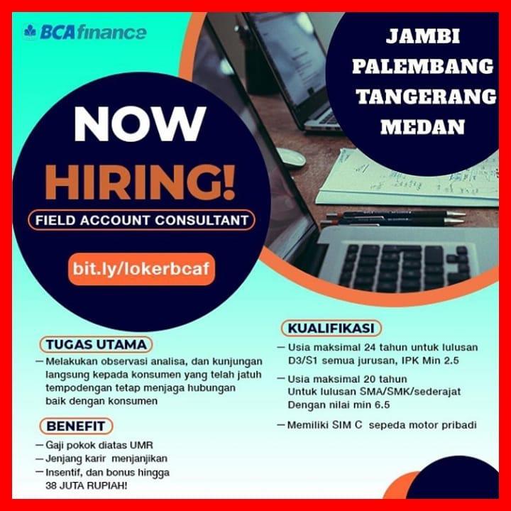 Info Lowongan Kerja Bca Finance Terbaru Peluang Besar Berkarir Medianya Informasi Lowongan Kerja Terbaru Di Medan 2020 I Lowonganmedan Com