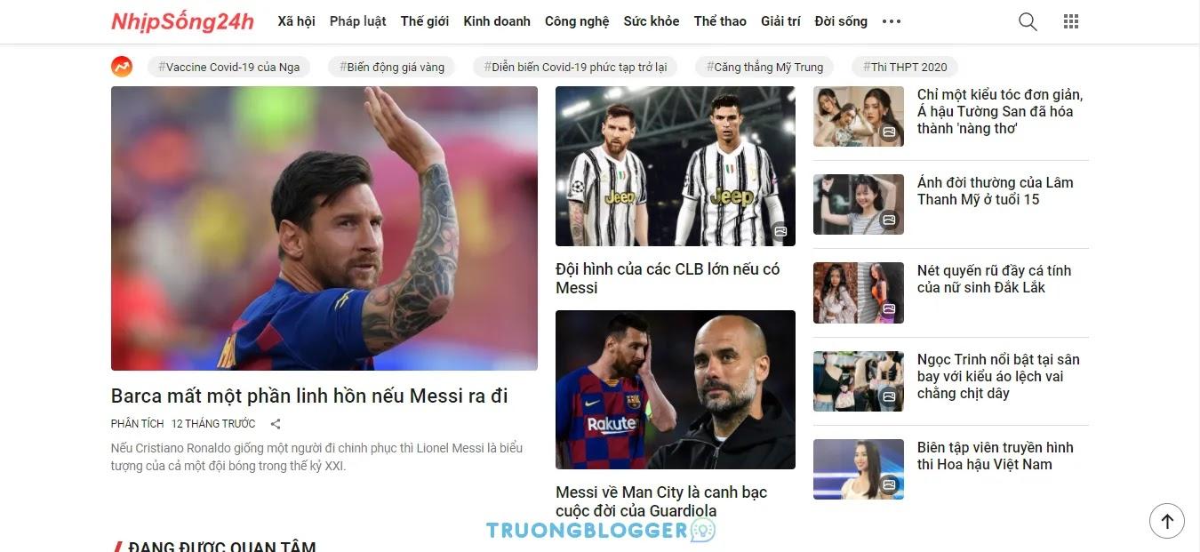 Template Blogspot tin tức báo chí giống trang ZingNews