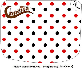 Red Polka Dots in Black and White Free Printable Candy Bar Nucita Labels.