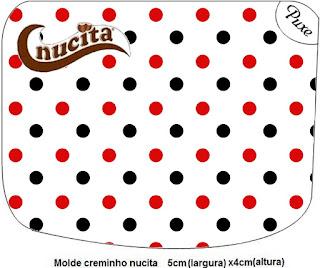 Etiqueta Nucita de Lunares Rojos y Negros para imprimir gratis.