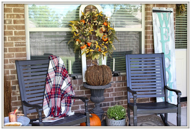 Fall-Porch-Rocking Chairs-Balsam Hill-Twine Pumpkin-Fall-Decor-From My Front Porch To Yours