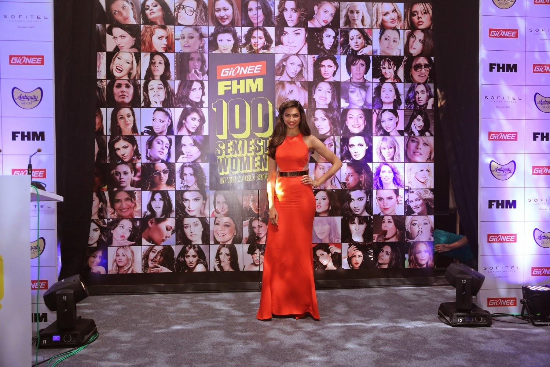 Deepika Padukone at Gionee FHM Sexiest 100