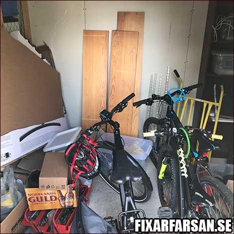 Fullt Förråd Cykelrum